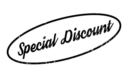 Special Discount rubber stamp. Grunge design with dust scratches. Effects can be easily removed for a clean, crisp look. Color is easily changed.
