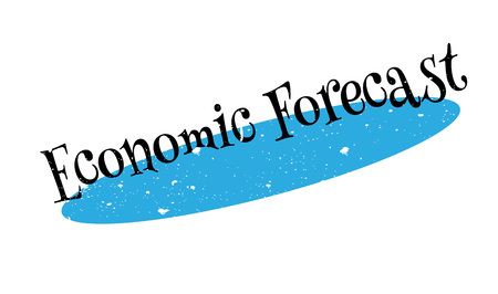 prediction: Economic Forecast rubber stamp. Grunge design with dust scratches. Effects can be easily removed for a clean, crisp look. Color is easily changed.