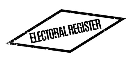 turnout: Electoral Register rubber stamp. Grunge design with dust scratches. Effects can be easily removed for a clean, crisp look. Color is easily changed. Illustration