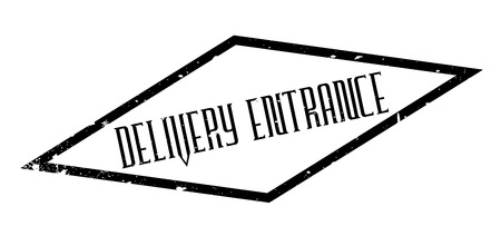 Delivery Entrance rubber stamp. Grunge design with dust scratches. Effects can be easily removed for a clean, crisp look. Color is easily changed. Illustration