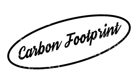 Carbon Footprint rubber stamp. Grunge design with dust scratches. Effects can be easily removed for a clean, crisp look. Color is easily changed. Stock Photo