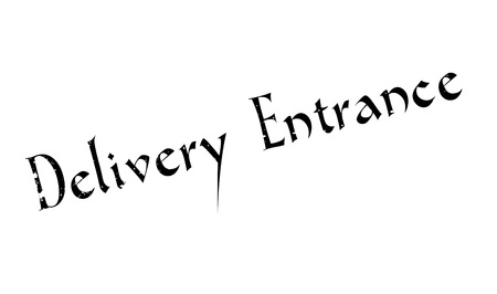 handing over: Delivery Entrance rubber stamp. Grunge design with dust scratches. Effects can be easily removed for a clean, crisp look. Color is easily changed. Stock Photo