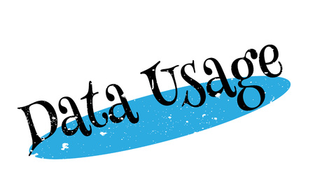 Data Usage rubber stamp