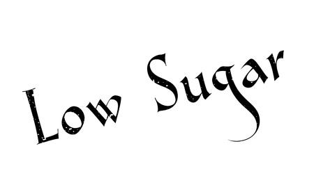 Low Sugar rubber stamp Illustration