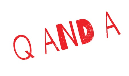 Q And A rubber stamp