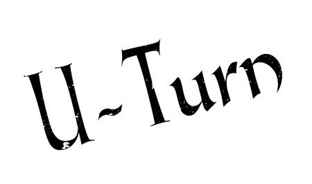 U-Turn rubber stamp