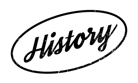 bygone: History rubber stamp Illustration