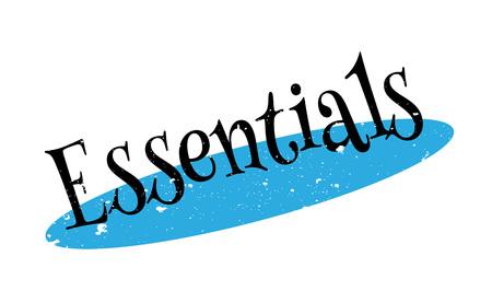 Essentials rubber stamp Illustration