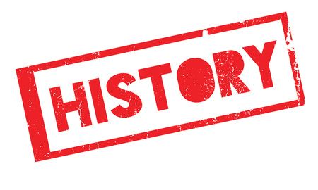 of yesteryear: History rubber stamp Stock Photo