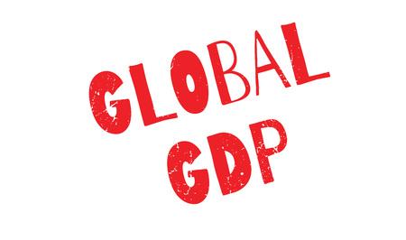 Global Gdp rubberzegel
