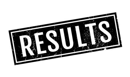 Results rubber stamp Векторная Иллюстрация