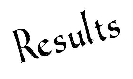 Results rubber stamp Illustration