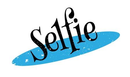 Selfie rubber stamp