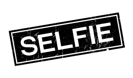Selfie timbro di gomma