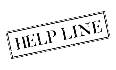 popularity: Help Line rubber stamp