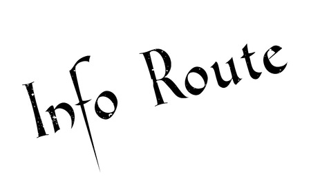 Info Route rubber stamp. Grunge design with dust scratches. Effects can be easily removed for a clean, crisp look. Color is easily changed. Illustration