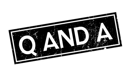 amp: Q And A rubber stamp. Grunge design with dust scratches. Effects can be easily removed for a clean, crisp look. Color is easily changed. Illustration