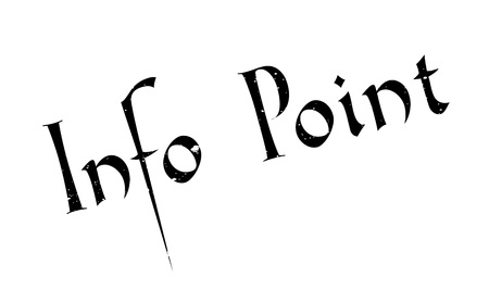 Info Point rubber stamp