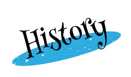 History rubber stamp Illustration