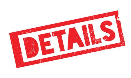details: Details rubber stamp