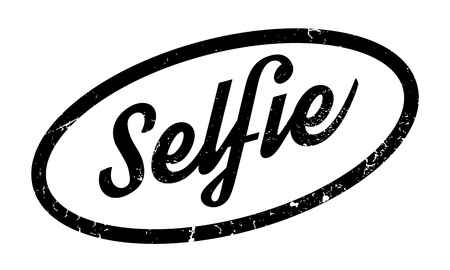 boastful: Selfie rubber stamp. Grunge design with dust scratches. Effects can be easily removed for a clean, crisp look. Color is easily changed.