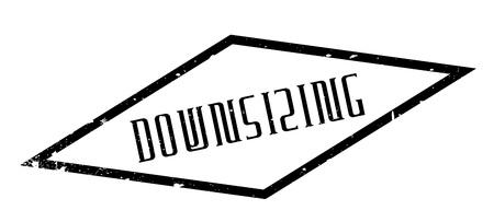 Downsizing rubberen stempel Stockfoto - 75624879