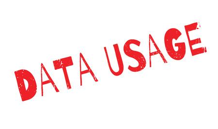 Data Usage rubber stamp