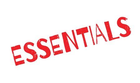 constitutive: Essentials rubber stamp Illustration