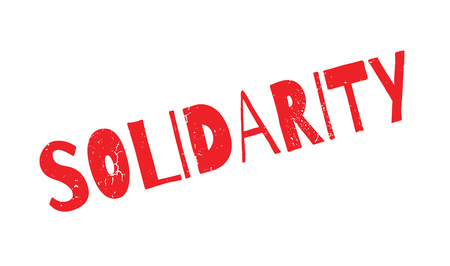 Solidarity rubber stamp Stock Photo
