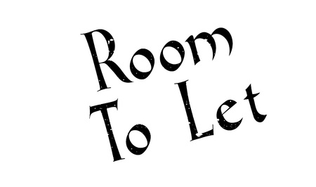 Room To Let rubber stamp