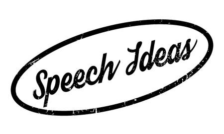 Speech Ideas rubber stamp Illustration