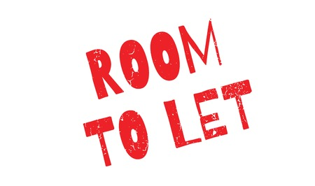 room to let: Room To Let rubber stamp