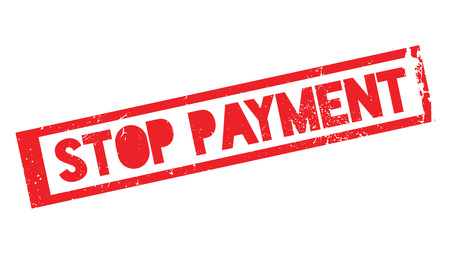 Stop Payment rubber stamp Ilustrace