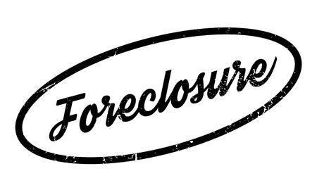 proceeding: Foreclosure rubber stamp Illustration