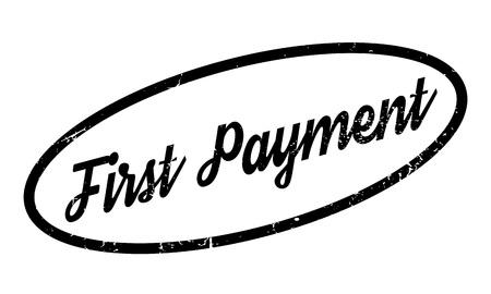 salarios: First Payment rubber stamp