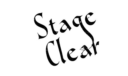 postmark: Stage Clear rubber stamp