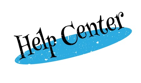 Help Center rubber stamp Stock Photo