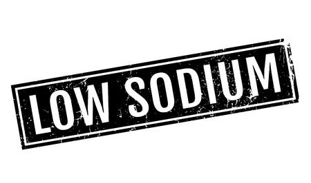 salt free: Low Sodium rubber stamp Stock Photo