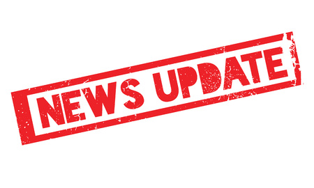 news update: News Update rubber stamp Stock Photo