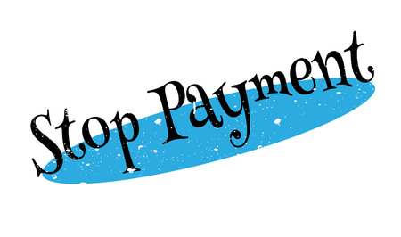 stoppage: Stop Payment rubber stamp Stock Photo