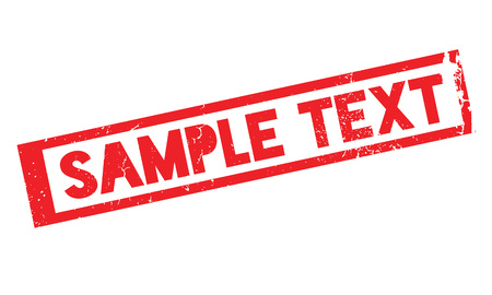 Sample Text rubber stamp Stok Fotoğraf