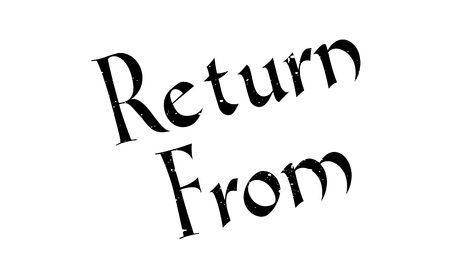 coming home: Return From rubber stamp