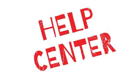 Help Center rubber stamp Illustration