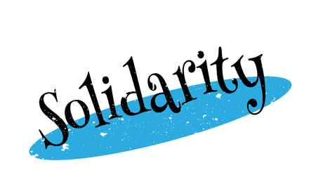 Solidarity rubber stamp Illustration