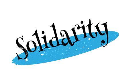 Solidarity rubber stamp Illustration