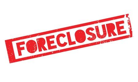 Foreclosure rubber stamp Ilustração
