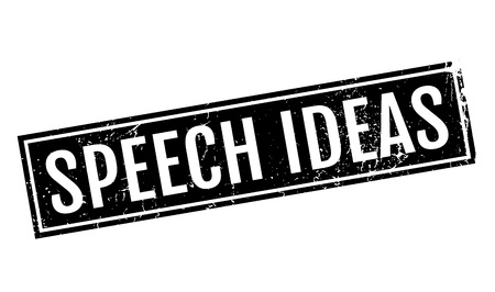 panelist: Speech Ideas rubber stamp Illustration