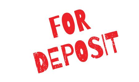 depot: For Deposit rubber stamp Illustration