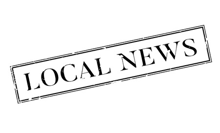 Local News rubber stamp Illustration