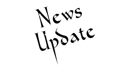 News Update rubber stamp Illustration